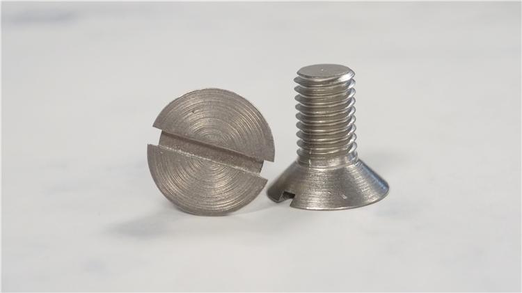 金福钛业 钛合金螺丝 一字槽沉头